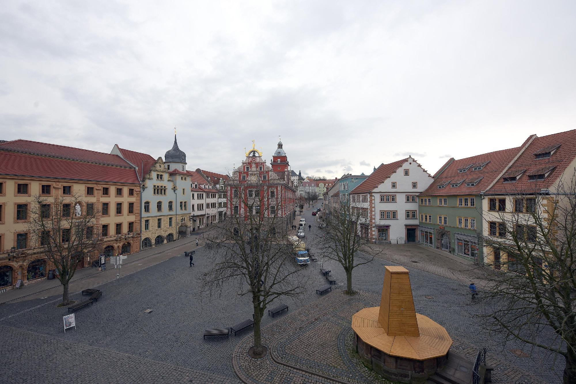 Blick auf den Gothaer Markt